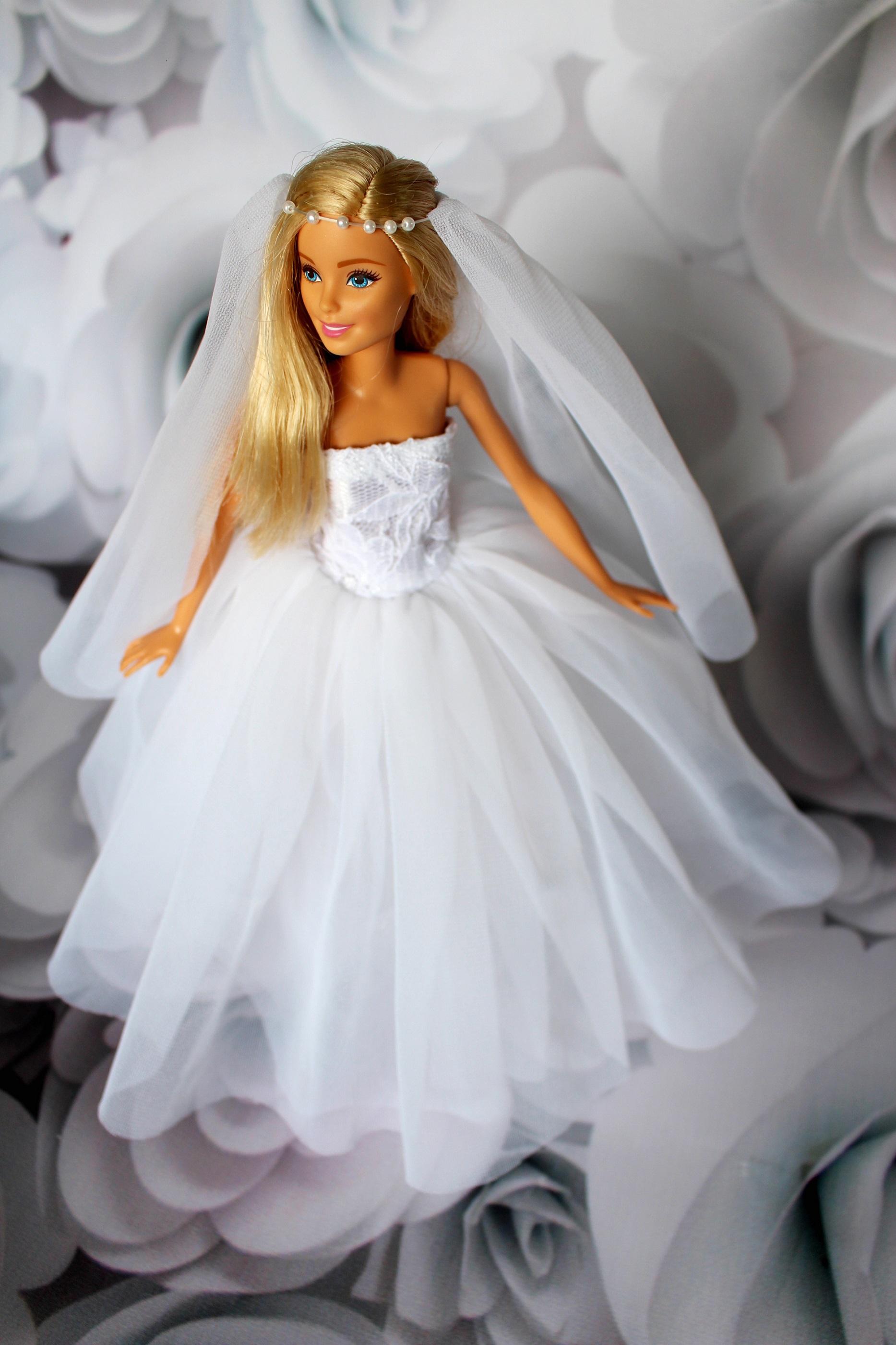 Suknia ślubna Dla Barbie Dorota Zgodzaj