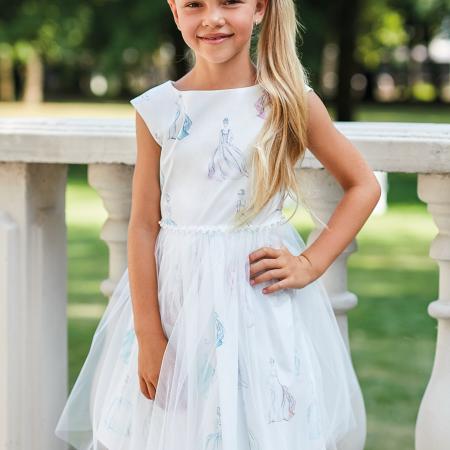 sukienka na wesle, komunię dla dziewczynki