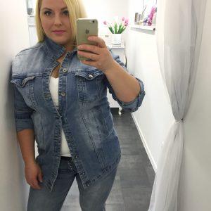 katan jeansowa plus size