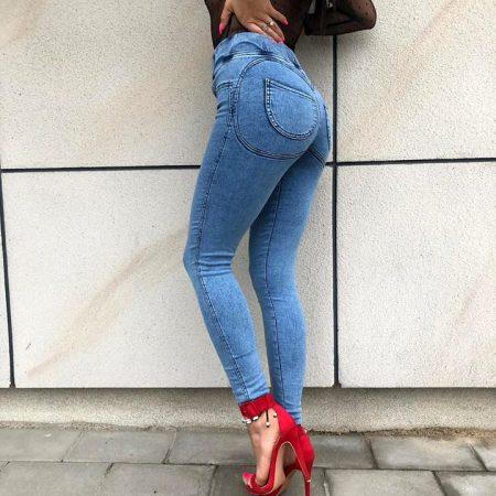 spodnie z kieszanimi z efektem push up