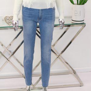 niebieskie spodnie jeansy 44