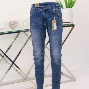 jeansy z zamkami 46