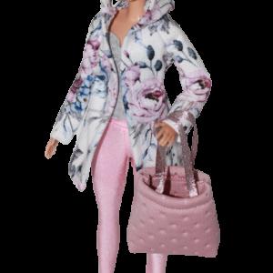 ubranka dla lalek barbie zimowy biały płaszczyk
