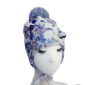 czapka zimowa wełniana dla dziewczynki